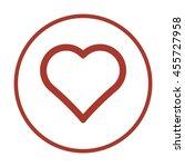heart  icon. | Shutterstock .eps vector #455727958