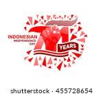 71 years indonesian... | Shutterstock .eps vector #455728654