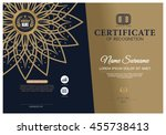 certificate gold frame and gold ... | Shutterstock .eps vector #455738413