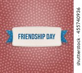 friendship day emblem with... | Shutterstock .eps vector #455740936