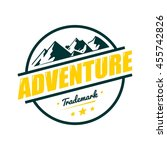 adventure mountain badge logo... | Shutterstock .eps vector #455742826
