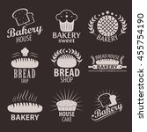set of bakery or cakery and... | Shutterstock .eps vector #455754190