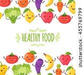 healty food cartoon representing | Shutterstock .eps vector #455769799