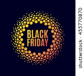 black friday sale. halftone... | Shutterstock .eps vector #455770870