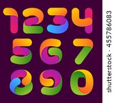 Numbers Set Logos Formed By...