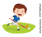 hockey player. vector... | Shutterstock .eps vector #455788564