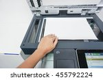 woman scan a document by the... | Shutterstock . vector #455792224