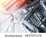 sketch of piping design mixed... | Shutterstock . vector #455797174