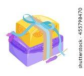 homemade bars soaps  flowers...   Shutterstock .eps vector #455798470