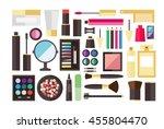 makeup icons perfume mascara... | Shutterstock .eps vector #455804470