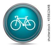 bicycle icon. internet button... | Shutterstock . vector #455812648