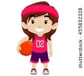 vector illustration of a girl... | Shutterstock .eps vector #455832328