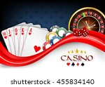 background red white poker... | Shutterstock .eps vector #455834140