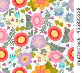 floral pattern in cartoon style.... | Shutterstock .eps vector #455835328