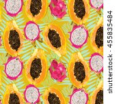 bright  juicy  color  summer ... | Shutterstock .eps vector #455835484