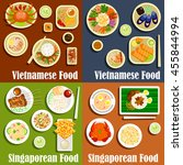 vietnamese and singaporean... | Shutterstock .eps vector #455844994