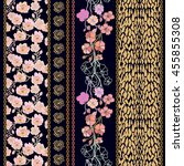 set of rich retro lace borders... | Shutterstock .eps vector #455855308