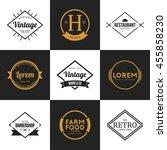 set of vintage logo and badge.... | Shutterstock .eps vector #455858230