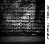 interior of grunge brick wall... | Shutterstock . vector #455860804