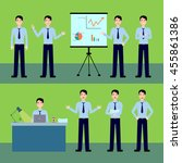 office worker vector set... | Shutterstock .eps vector #455861386