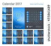 desk calendar for 2017 year.... | Shutterstock .eps vector #455861689