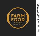 farm food badge and logo | Shutterstock .eps vector #455870740
