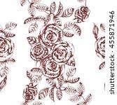 vector floral seamless pattern... | Shutterstock .eps vector #455871946