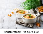 mushroom cream soup with... | Shutterstock . vector #455876110