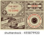 old advertisements pack ... | Shutterstock .eps vector #455879920