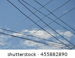 electric cable wire... | Shutterstock . vector #455882890