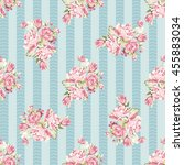 seamless floral pattern with... | Shutterstock .eps vector #455883034