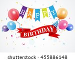 happy birthday greetings card | Shutterstock . vector #455886148