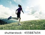 healthy young woman trail... | Shutterstock . vector #455887654