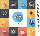 baby icons set eps10 | Shutterstock .eps vector #455891503