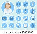 a set of phlebology vector...   Shutterstock .eps vector #455893168