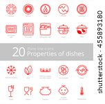 symbols of food grade metal... | Shutterstock .eps vector #455893180