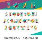 vector abstract alphabet   Shutterstock .eps vector #455896120