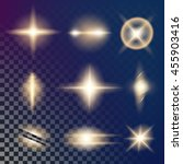 creative concept vector glow... | Shutterstock .eps vector #455903416