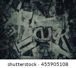 grunge collage of letters... | Shutterstock . vector #455905108