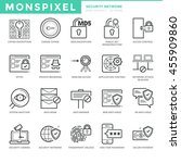 flat thin line icons set of... | Shutterstock .eps vector #455909860