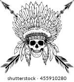 hand drawn native american... | Shutterstock .eps vector #455910280