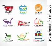shopping cart logo and shopping ... | Shutterstock .eps vector #455912833