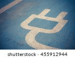 color image of a parking spot... | Shutterstock . vector #455912944