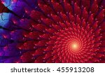 Bright Colorful Fractal Flower...