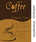 coffee background vector | Shutterstock .eps vector #45591691