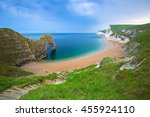 durdle door at the beach on the ... | Shutterstock . vector #455924110
