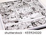 cartoon doodles hand draw art.... | Shutterstock . vector #455924320