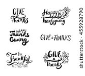 collection of hand drawn... | Shutterstock .eps vector #455928790