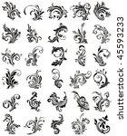 gothic deco  black victorian art | Shutterstock .eps vector #45593233