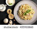 Pasta With Mushrooms And...